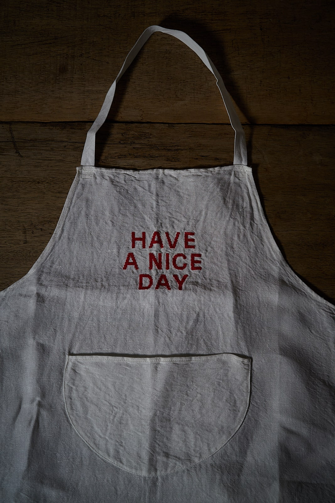 APRON HAVE A NICE DAY RED